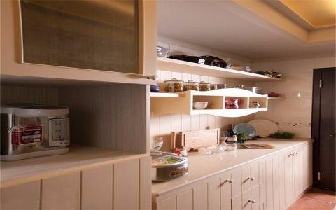 厨房背景墙田园风格装饰设计图片