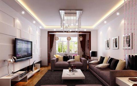 长乐富丽华府新中式风格三居室装修效果图