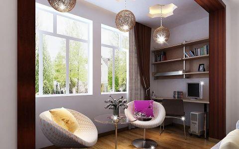 阳台吊顶新中式风格装饰效果图