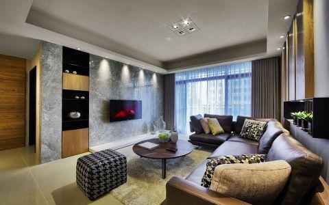 中庚城110平现代简约风格三居室装修效果图