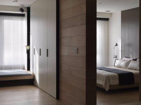 卧室隔断现代简约风格装修效果图