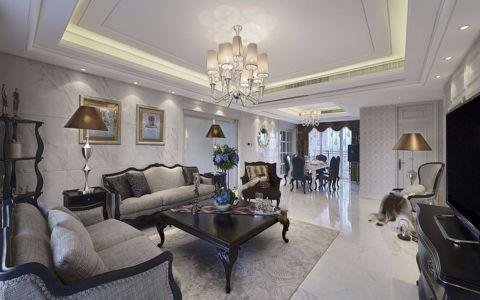 现代欧式风格130平米楼房室内装修效果图