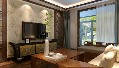 云锦世家180平米四室新中式风格装修效果图