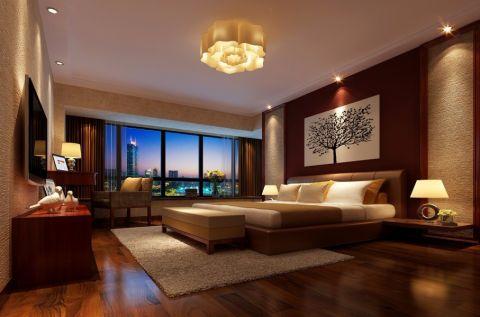 卧室床简中风格效果图