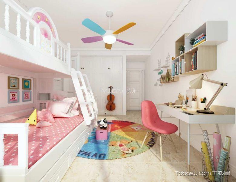 儿童房白色床北欧风格装饰图片