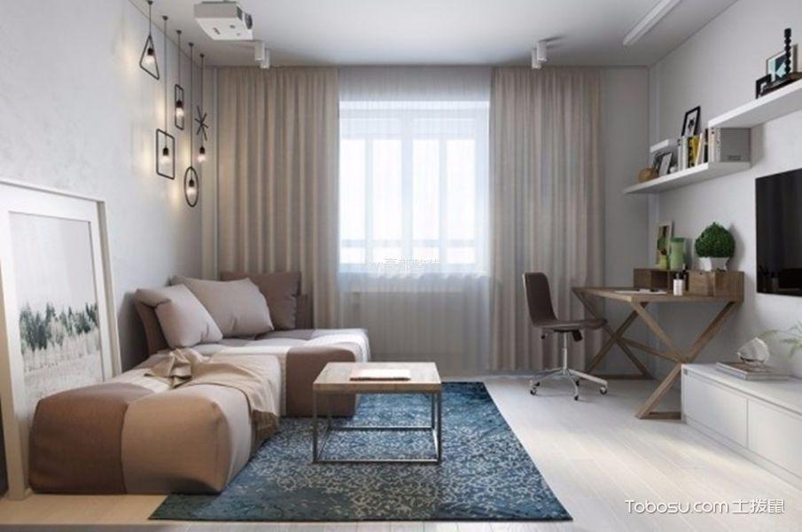 雅居乐30平混搭风格公寓装修效果图