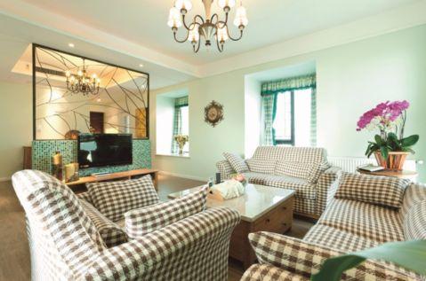 西溪小海90平美式田园风格二居室装修效果图