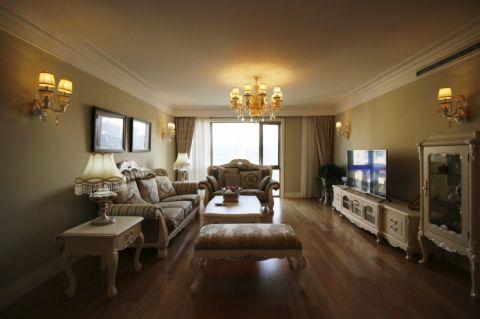 奥克斯90平欧式风格三居室装修效果图