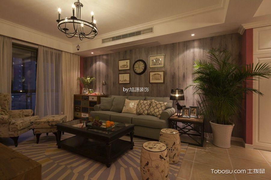 奥克斯100平美式风格三居室装修效果图