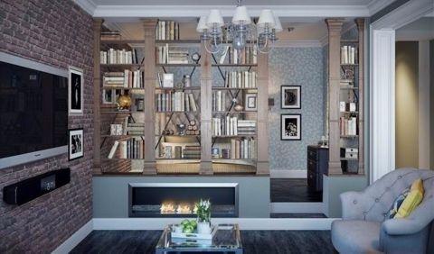美式风格50平米公寓新房装修效果图