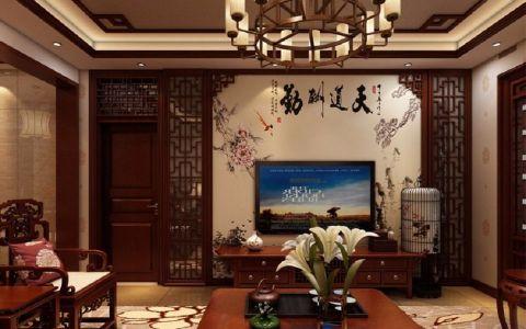 现代中式风格120平米大户型室内装修效果图