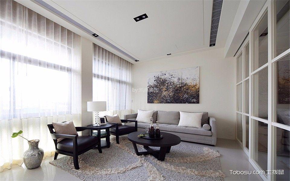 现代风格70平米一居室新房装修效果图