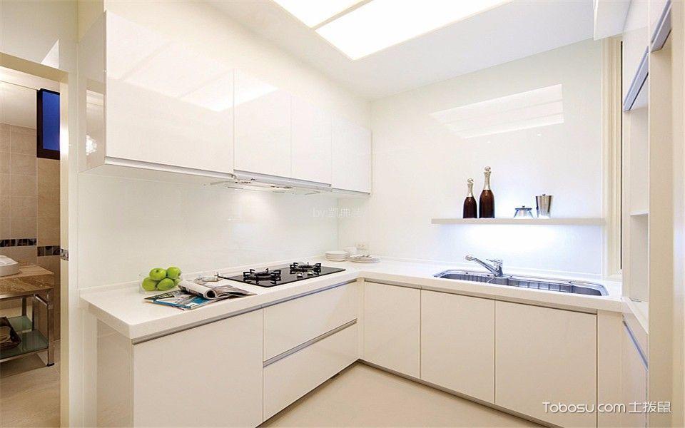 厨房 橱柜_现代风格70平米一居室新房装修效果图