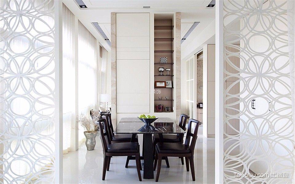餐厅 隔断_现代风格70平米一居室新房装修效果图