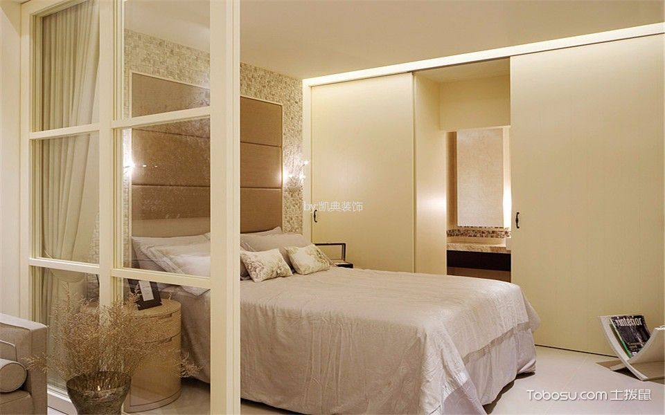 卧室 床_现代风格70平米一居室新房装修效果图