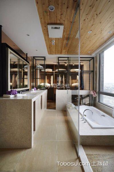 120平现代简约风格二居室装修效果图