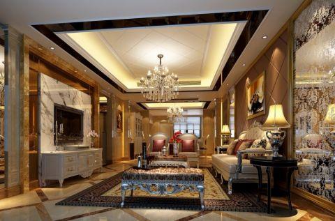 现代欧式风格140平米四室两厅新房装修效果图