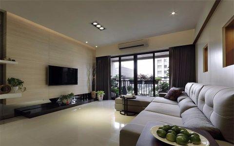 万达江南明珠简约风格四居室装修效果图