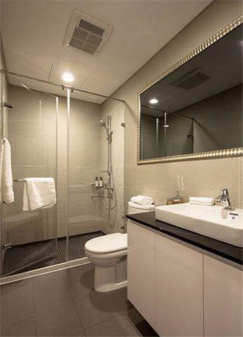 卫生间背景墙现代简约风格效果图
