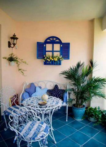阳台门厅地中海风格装饰设计图片