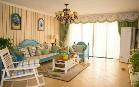 120平地中海风格三居室装修效果图