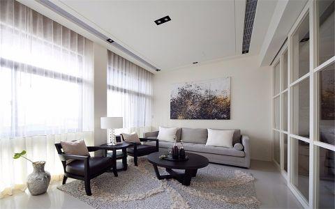 绿城水晶蓝湾70平现代风格一居室装修效果图