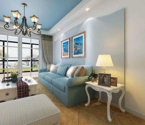 鄞州新外滩一号81平地中海三居室装修效果图