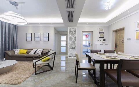 财富一号130平现代简约二居室装修效果图