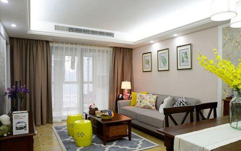 华润国际90平简约风格三居室装修效果图