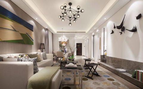 幸福湾129平现代简约三居室装修效果图