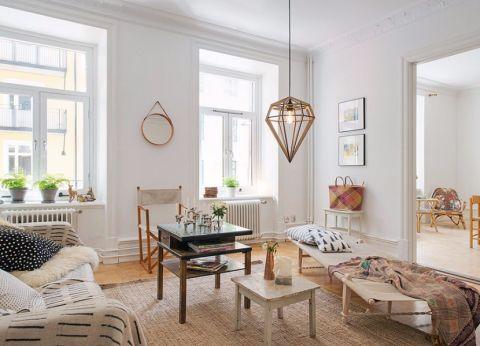 金地艺镜90平北欧风格两居室装修效果图