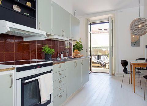 厨房推拉门北欧风格装修图片