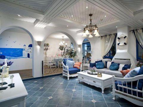 万科魅力之城二期地中海三居室装修效果图