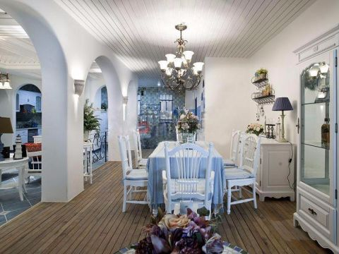 餐厅门厅地中海风格装饰图片