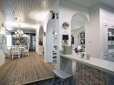 餐厅吧台地中海风格装潢图片
