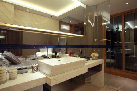 卫生间背景墙新古典风格装饰图片