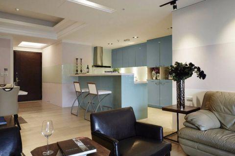厨房吧台现代简约风格装修效果图