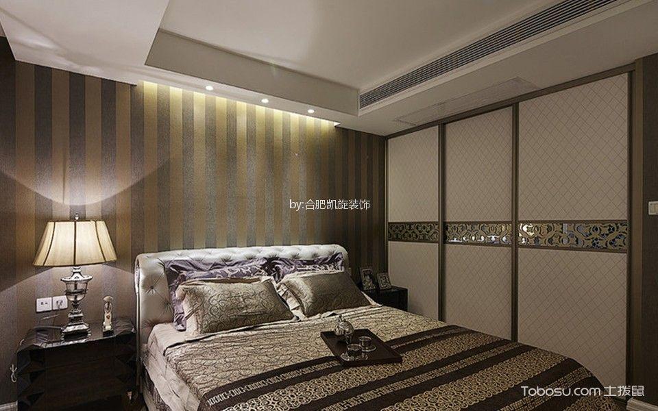 卧室白色床后现代风格装潢效果图