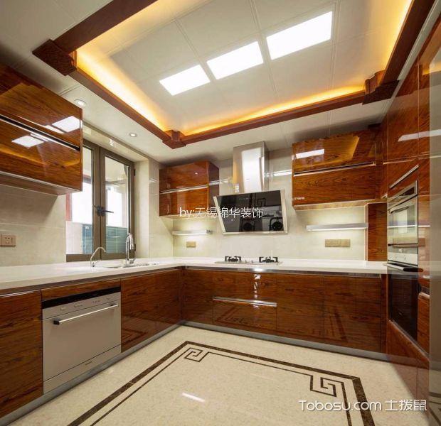 厨房 吊顶_凯旋门280平五室两厅新中式风格装修样板间