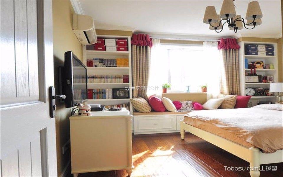 80平地中海风格三居室装修效果图