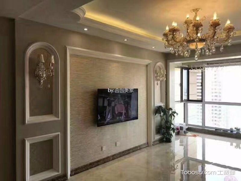 混搭风格100平米三室两厅新房装修效果图