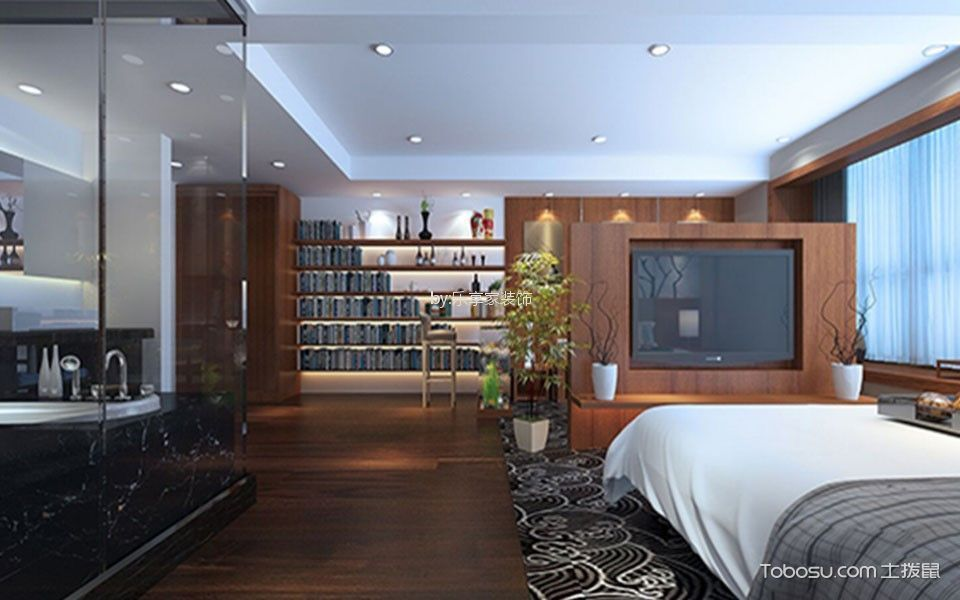 欧式风格120平米跃层新房装修效果图