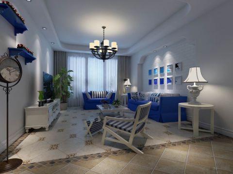 地中海风格89平米公寓新房装修效果图