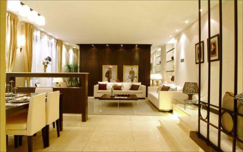 客厅吊顶现代中式风格效果图