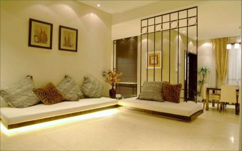 客厅隔断现代中式风格装修效果图