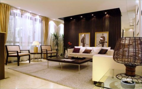 110平中式风格套房装修效果图
