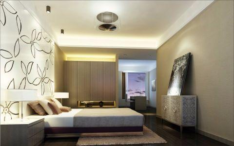 卧室床头柜现代简约风格装修设计图片