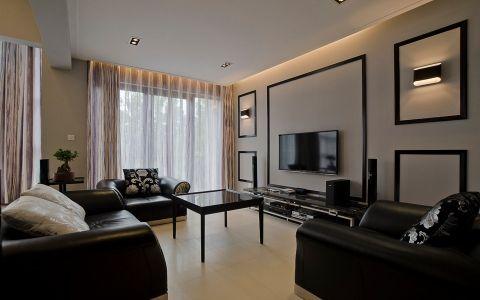 后现代风格130平米四室两厅新房装修效果图