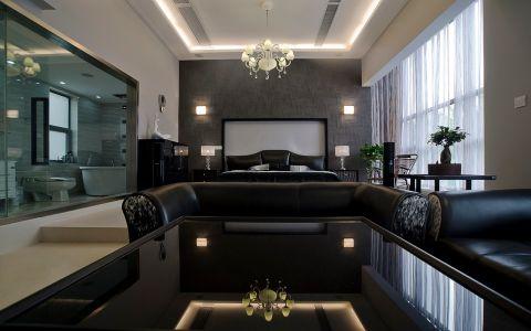 卧室背景墙后现代风格装潢设计图片