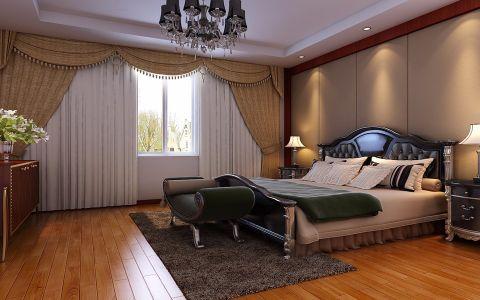 卧室窗帘中式风格装饰效果图